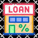 Percent Loan Building Icon