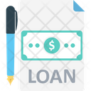 Loan Papers Loan Contract Papers Icon
