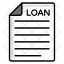 Bank Document Loan Agreement Loan Contract Icon