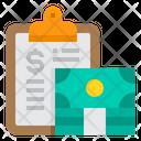 Clipboard Money Loan Icon