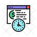 Loan Payment Date Time Pay Icon