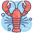Crayfish Sea Seafood Icon