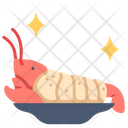 Lobster on dish Icon