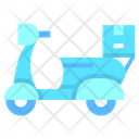 Local Delivery Scooter Delivery Vehicle Icon