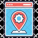 Place Optimization Geotargeting Geomarketing Icon