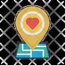 Location Map Wedding Icon