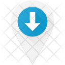 Down Pin Geolocation Icon