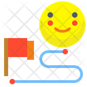 Distance Flag Distance Map Icon