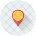 Bank Location Map Icon