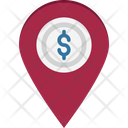 Bank Location Map Pin Icon