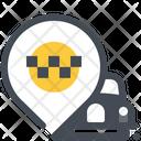 Location Taxi Car Icon