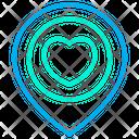 Love Love Location Pin Icon