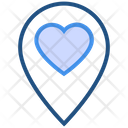Heart Valentines Day Location Icon