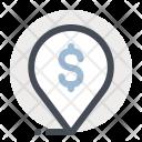 Location Pointer Dollar Icon
