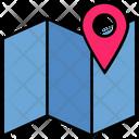 Summer Location Map Icon