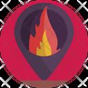 Location Pin Fire Icon