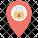 Location Pin Lock Icon