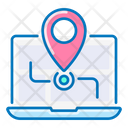 Location Navigation Laptop Icon