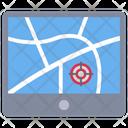 Location Map Road Icon