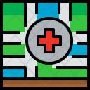 Location Hospital Map Icon