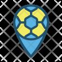 Location Soccer Ball Icon