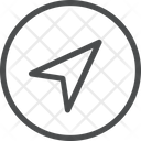 Location Arrow Crcle Icon