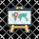 Board Presentation Map Icon