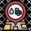 Location Car Wash Icon