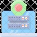 Location Data Computing Virtual Icon