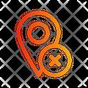 Location Decline Icon