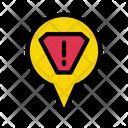 Error Location Warning Icon