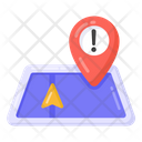 Location Warning Location Error Gps Error Icon