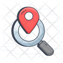 Location Finder Search Location Address Finding Icon