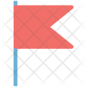 Location Flag Triangular Icon