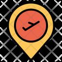 Aeroplane Location Flight Destination Flight Location Icon