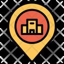 Location Pin Hotel Icon