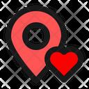 Location Love Love Like Icon