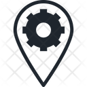 Cogwheel And Pin Gear Wheel Location Setting Icon