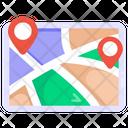 Destination Map Location Map Navigation Map Icon