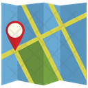 Location Map With Pin Paper Map With Pin Map Icon