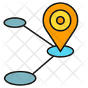 Location Marker Connection Sharing Icon