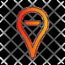 Location Minus Navigation Direction Icon