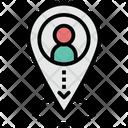 Location Of A Person Location Person Icon