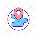 Location On Globe Icon