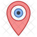 Pin Location Visit Icon