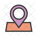 Marked Location Pin Icon