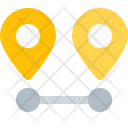 Distance Pin Marker Icon