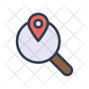 Location Search Map Icon