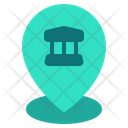 Location Pin Law Justice Icon