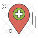 Navigation Pin Hospital Icon